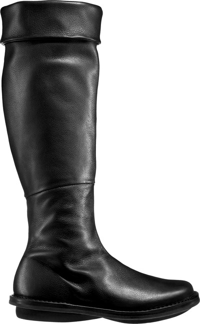trippen boots black leather closed