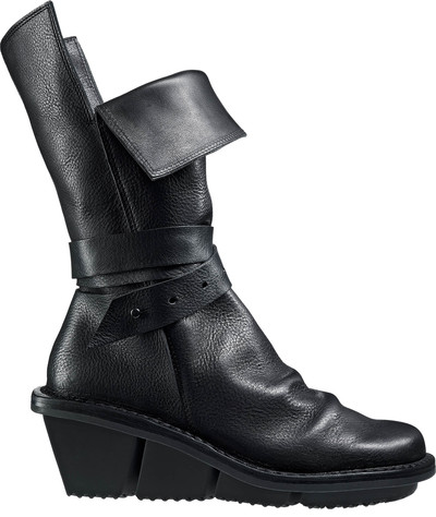 trippen black leather boot shoe