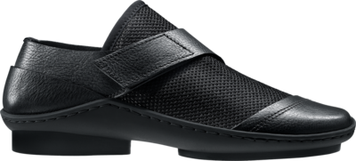 Casual slip-on shoe featuring a mesh fabric