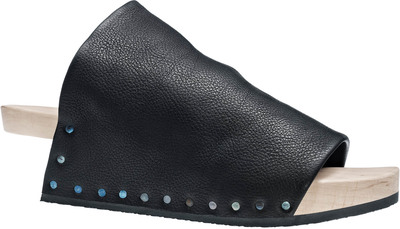 Trippen wooden shoe Gush in black