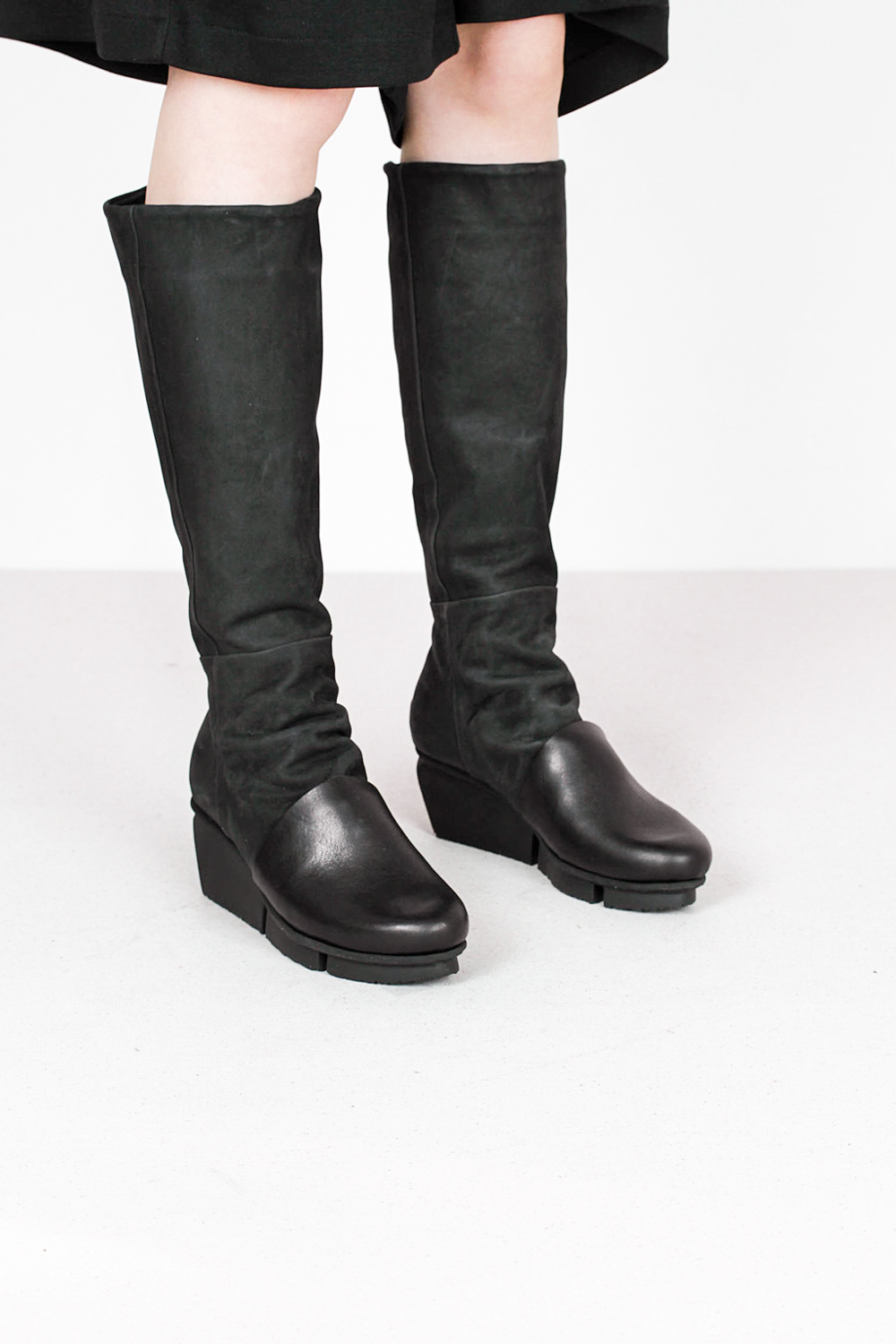 Trippen melt f waw blk tiz blk leather boots