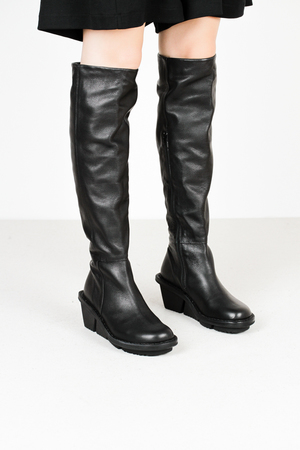 Trippen loft f sft blk leather boots