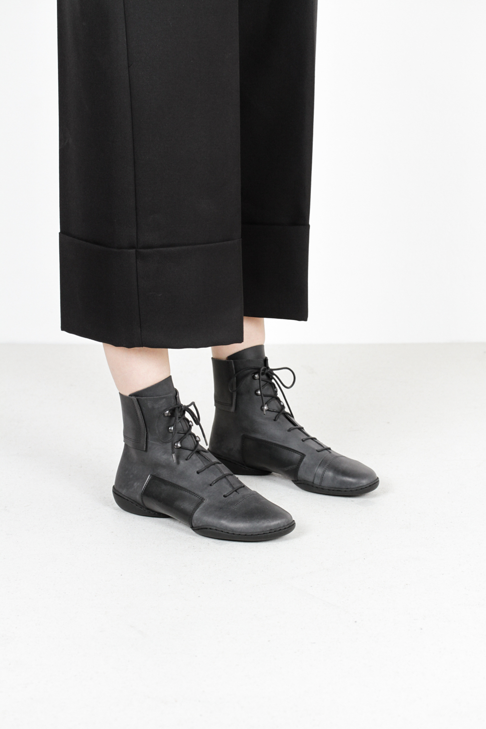Trippen mind f pul blk leather boots