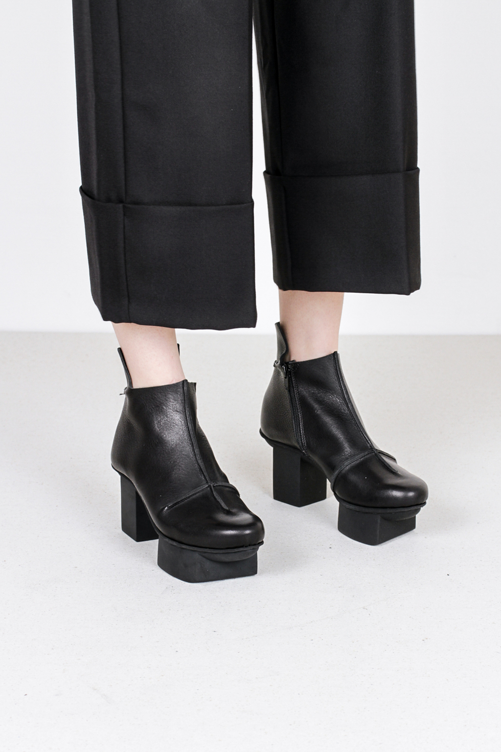Trippen container f waw blk leather boots