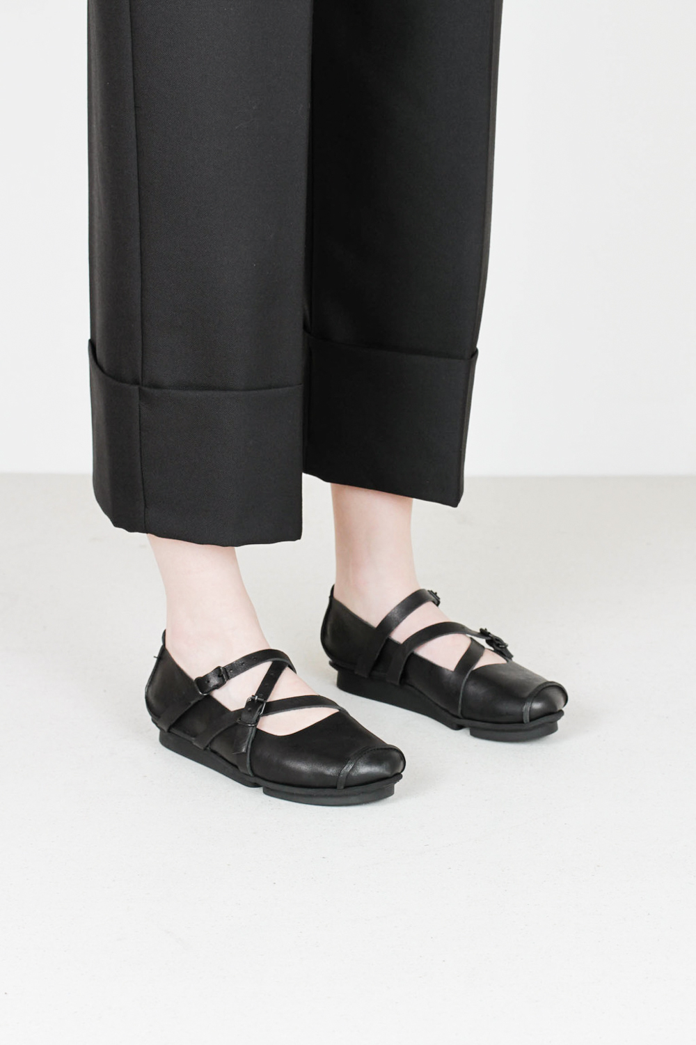 Trippen travel f waw blk leather shoes