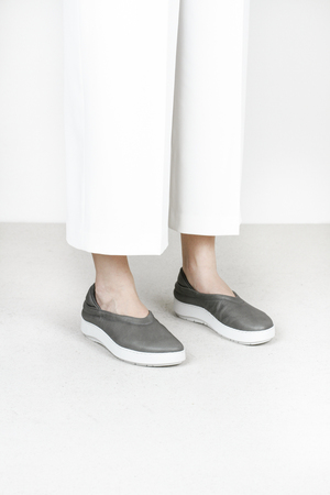 Trippen beach f vst grey leather shoes