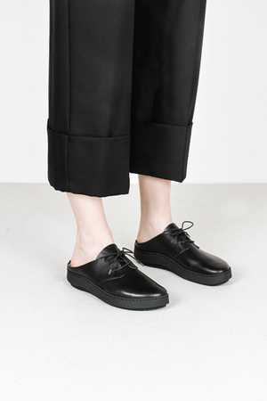 Trippen nami f waw blk leather shoes