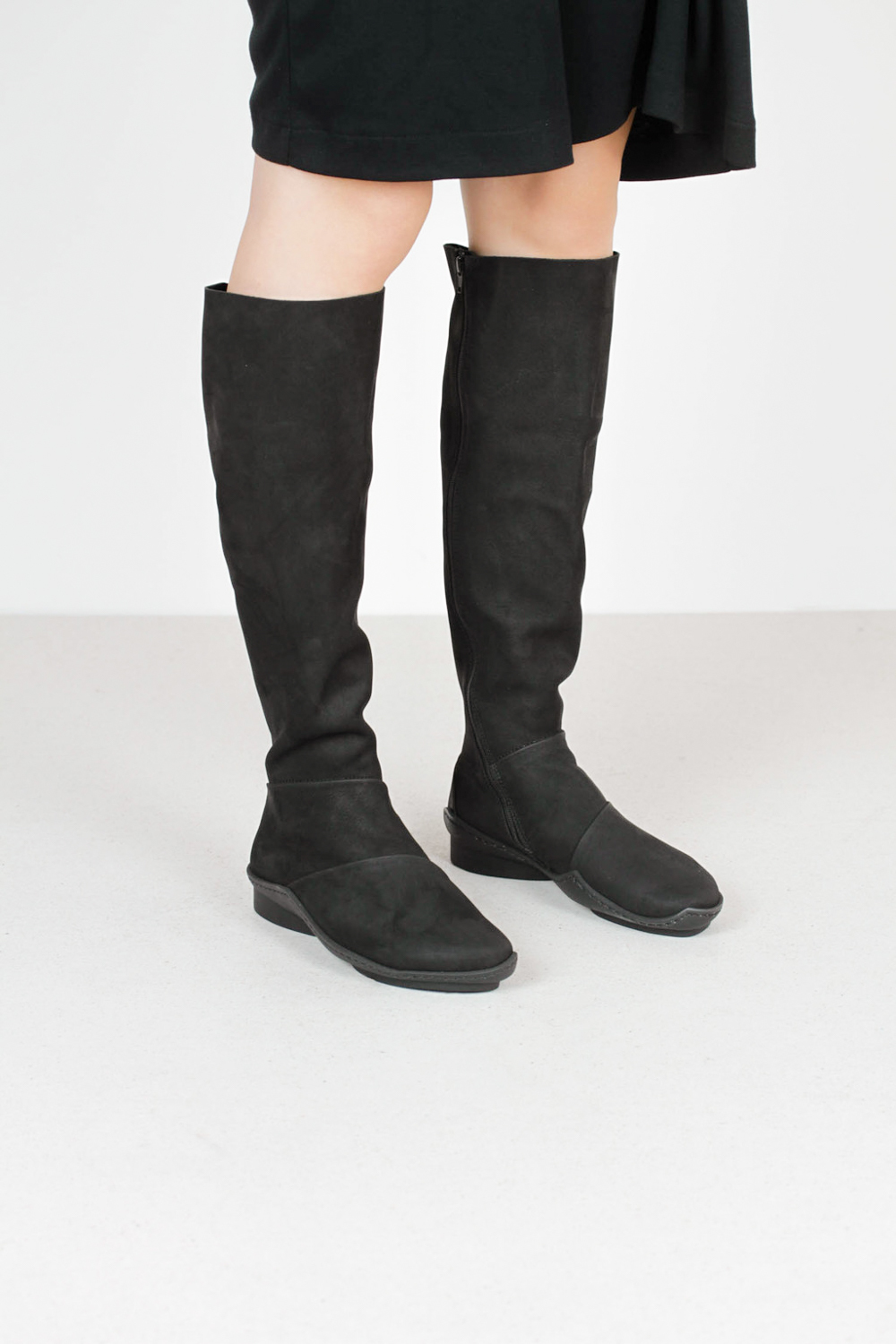 Trippen spate f mse blk leather boots