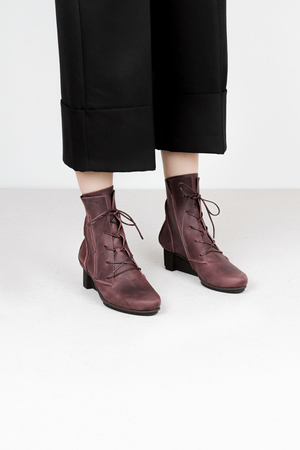 Trippen katla f pull wine kopie leather boots