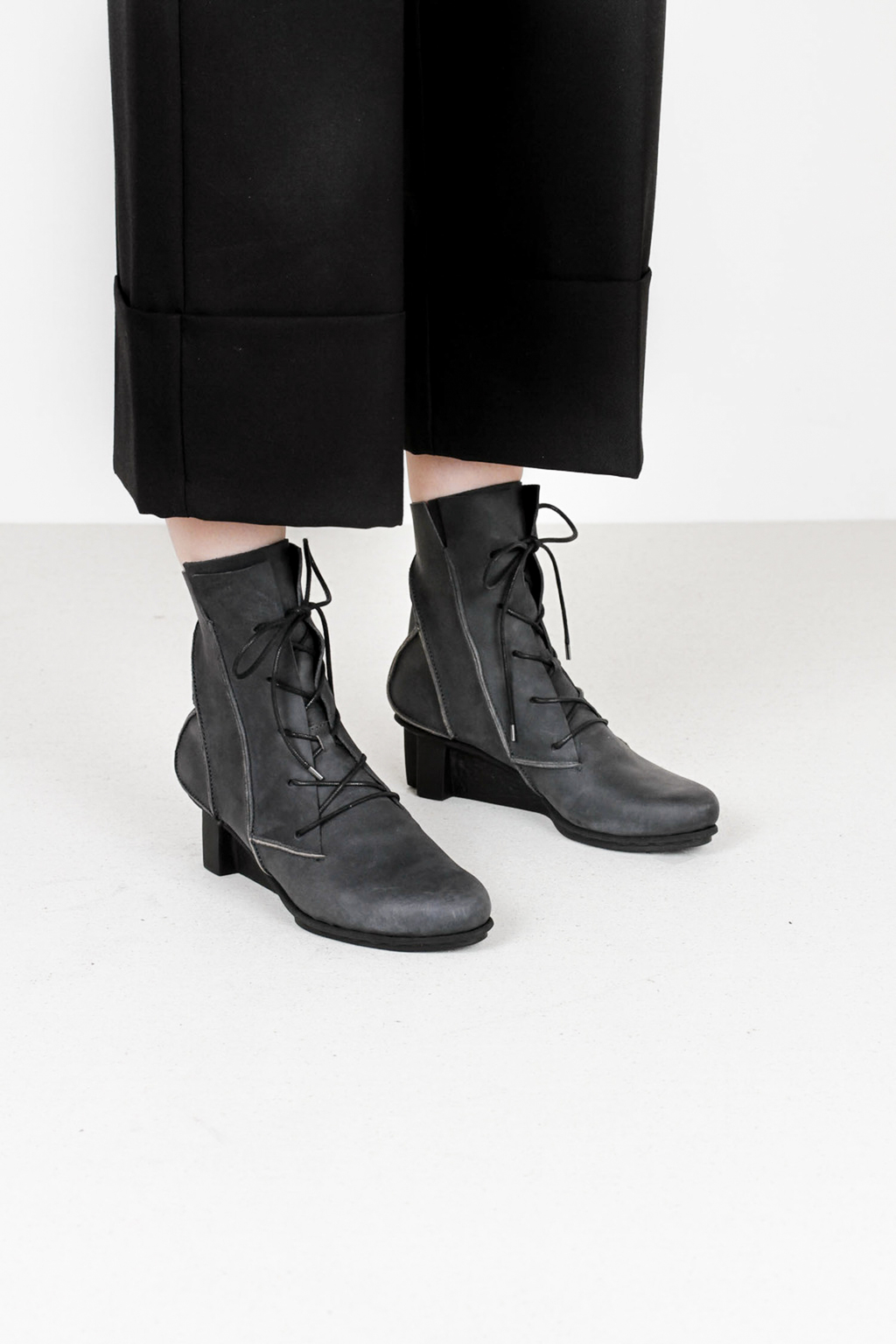 Trippen katla f pul blk leather boots