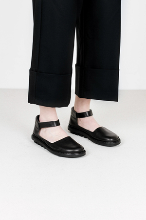 Trippen fringe f waw blk leather shoes