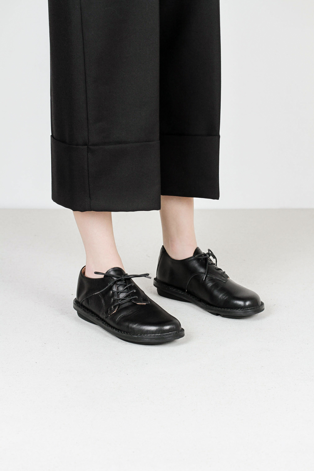 Trippen dippy f box blk leather shoes