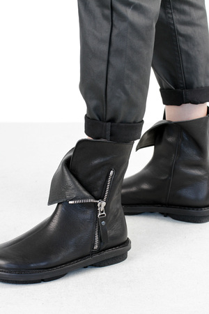 Trippen deer f blk waw leather boots 3