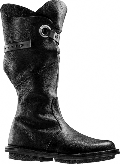 Trippen leather Boot Warrior in black